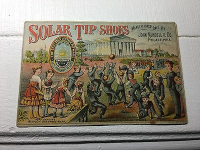 Victorian Trade Card - Solar Tip Shoes - Pat'd 1878
