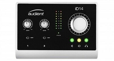 Audient ID14 10in/2out USB Desktop Interface with Premium Mic Preamps