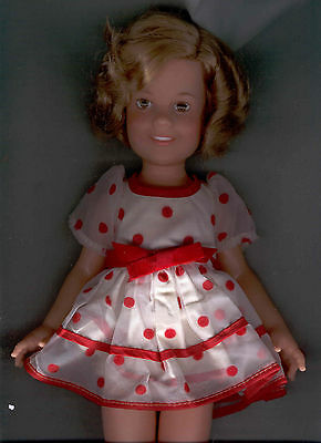"""Shirley Temple 16"""" Vinyl Doll 1972 In Original Red Polka Dot Dress & Shoes Exc."""