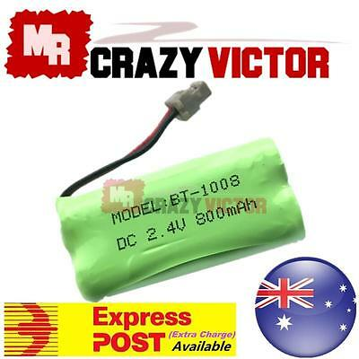 2.4V 800mAh Cordless Phone Rechargeable Ni-MH Battery For Uniden BT-1008