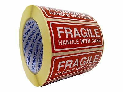 1000 Fragile Stickers Handle With Care Stickers Size 90x35mm