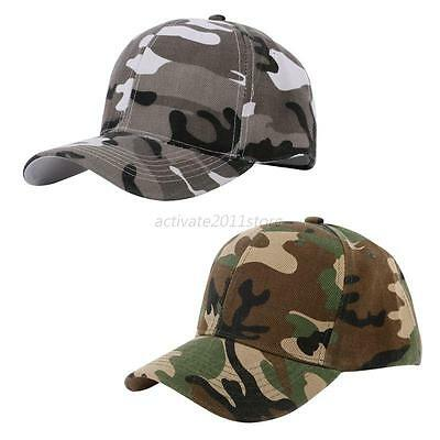 New Men Women Baseball Cap Military Army Camo Hat Trucker Camouflage Snapback AU