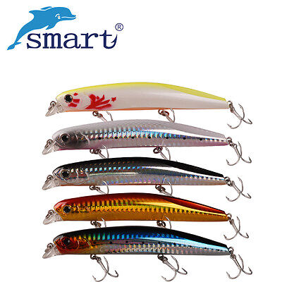 Smart Minnow 115mm/16.5g Floating 0.3m Fishing Lure VMC Hook Artificial Bait