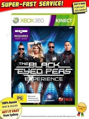 The Black Eyed Peas Experience Microsoft Xbox 360 Kinect NEW+SEALED AUSSIE game