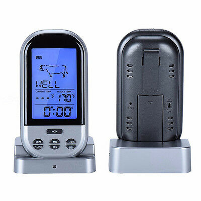 Wireless Digital Cooking Thermometer BBQ Oven Smart Meat Probe Temperature