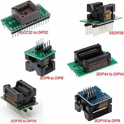 SOP8 to DIP8 PLCC32 to DIP32 Socket Converter Adapter Programmer IC Test Socket