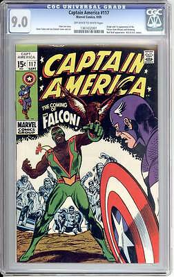 Captain America # 117  First appearance of the Falcon !  CGC 9.0 scarce book !
