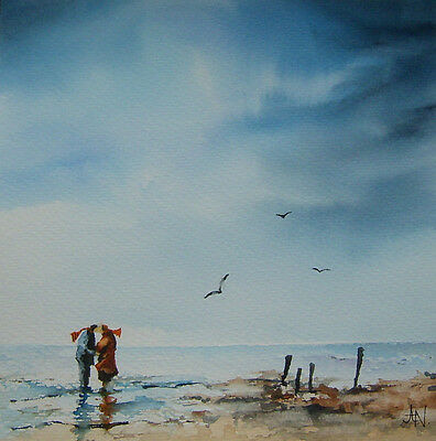ORIGINAL WATERCOLOUR PAINTING  alone together
