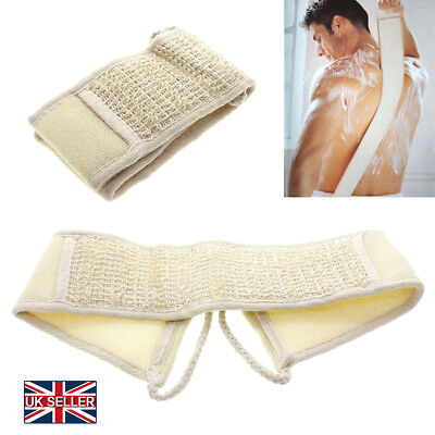 Unisex Exfoliating Loofah Back Strap Bath Shower Body Sponge Scrubber Brush AU