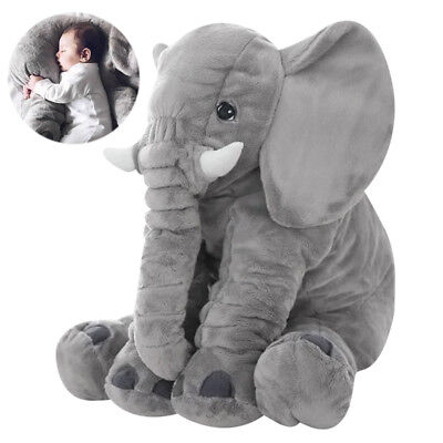 Cute 60CM Elephant Doll Soft Plush Doll Stuff Toys Lumbar Pillow Baby Kids Gift