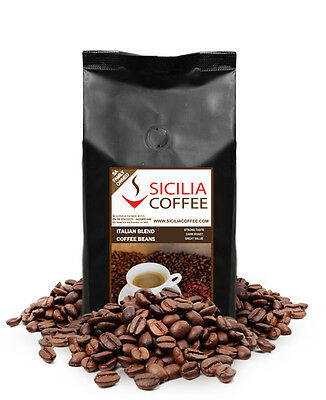 FRESH COFFEE 250g, 500g or 1kg bag of ITALIAN BLEND Coffee Beans Freshly Roasted