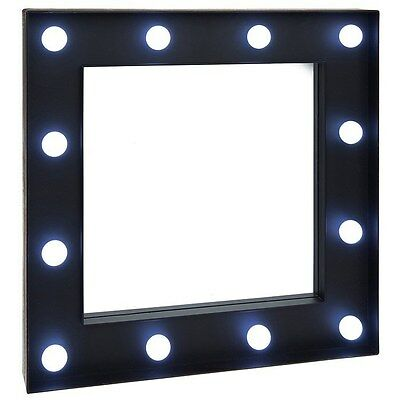 Black Square Mirror with Lights, Glamour, Style, Nights Out, Movie Star 271355