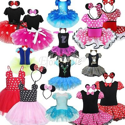 Baby Toddler Girls Kids Minnie Mouse Costume Party Outfit  Fancy Tutu Dress up