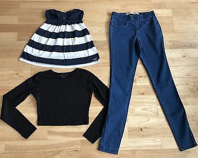 women's bundle size 6 cropped top hollister strapless top jeans