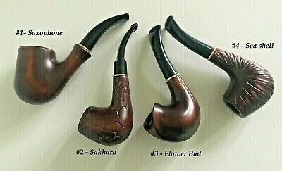 DELUXE HAND CARVED/TOBACCO/SMOKING PIPES/NATURAL WOOD/FITS 9mm FILTER