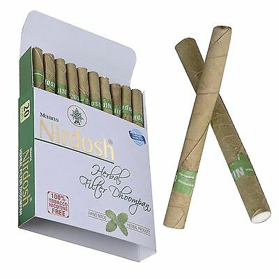 NIRDOSH HERBAL Cigarette Pack of 40 Cigarette Nicotine Free -Ayurvedic Herbs-UMI