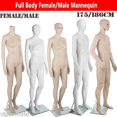 New Full Body Female Male Mannequin Clothes Display Dressmaking Window Showcase