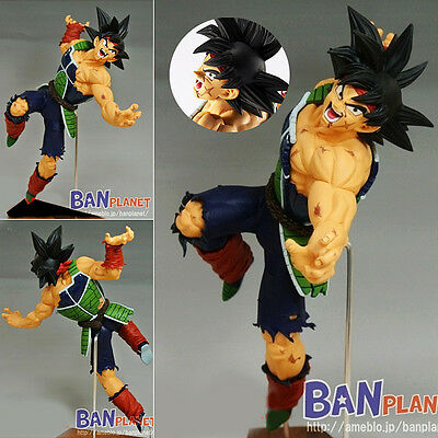 Japan Anime DBZ Dragon Ball Z Super Saiyan Burdock Figure Statue 20cm Battle Ver