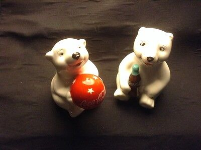 Coca Cola Polar Bears Salt & Pepper Shakers Set