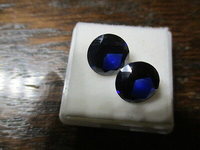 SAPPHIRE CORUNDUM TOP QUALITY HYDROTHERMAL GROWN x PAIR TOTAL 9.10Ct  MF9013S