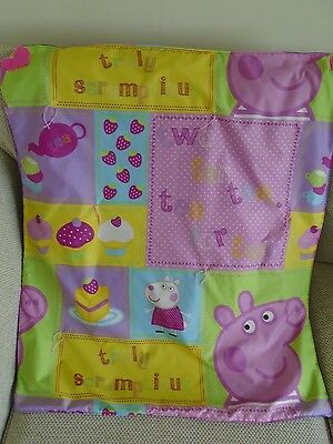 Baby blanket with fleece lining,warm and cosy, Peppa Pig,  hand made