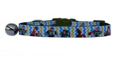 "GREEN  ""  BUZZ WOODY TOY STORY   ""  safety kitten cat collar  3 sizes"