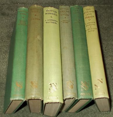Small Job Lot of 6 New Naturalist Books - Older Editions 4x 1940s & 2x 1960s