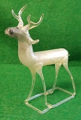 Vintage Hand Blown Mercury Glass Reindeer - Lauscha Germany - 4""