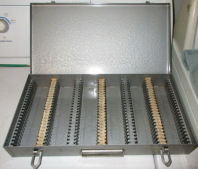 Vintage Metal Slide Storage Box 35MM Slides 2x2 Coin Holders Storage Box 150