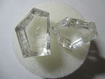 GOSHENITE BERYL NATURAL UNTREATED x 2 TOTAL 48Ct  MF9015