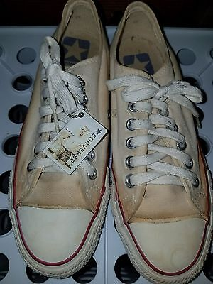 "Vintage Converse Chuck Taylor Low  ""BLUE LABEL"" Made In USA. size 6.5"