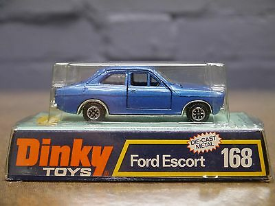 Dinky Toys Boxed 168 MK1 Ford Escort 2 Door in Blue