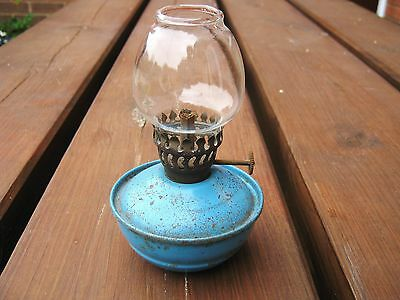 Vintage Kelly Nursery Pixie Paraffin Oil Lamp with Glass Shade