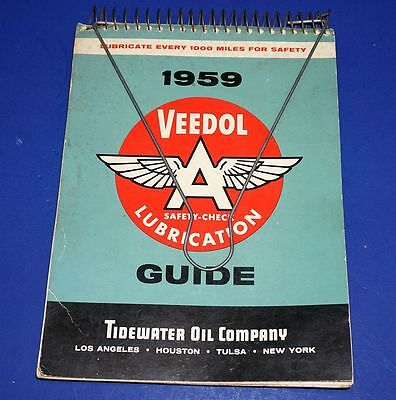 1959 Veedol Safety Check Lubrication Guide