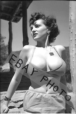 """DONNA MAE """"BUSTY"""" BROWN  4"""" x 6"""" NUDE PHOTO PRINT 50'S CHEESECAKE MODEL #25"""