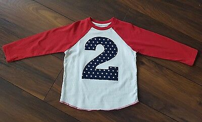 custom made age 2 birthday long sleeved t-shirt age 18-24 months