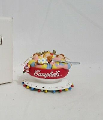 Campbell's Collectables Campbell Kids Soup Bowl Christmas Ornament IOB
