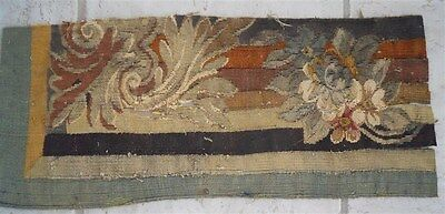 Aubusson  French antique tapestry 19th-century for pillows.