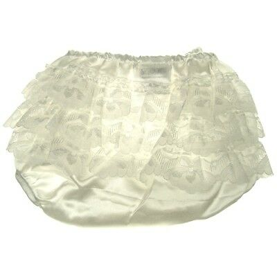 Satin frilly pants baby girl knickers  Cream