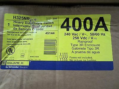 NEW IN BOX Square D H325NR Heavy Duty Safety Switch 240V 400A 3P NEMA 3R