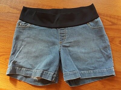 Liz Lange Maternity Under The Belly Light Blue Jean Shorts Size M Medium