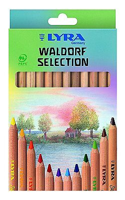 Lyra Super Ferby Colouring Pencils - Waldorf - Assorted Colours - Pack of 12