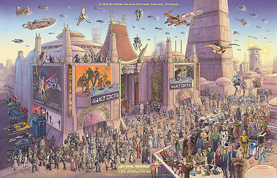 Star Wars Celebration Poster Art Reproduction Print A4 Canvas Effect Paper