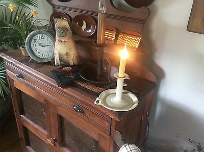 Off white candle light primitive folk art country