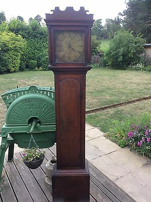 antique  single handed grandfather clock