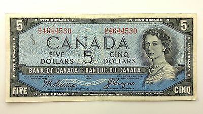 1954 Canada Devil Face Five 5 Dollars HC Series Circulated Bill Banknote B011
