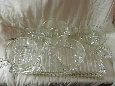 Vintage Hazel Atlas 'Snack, Sip and Smoke' Luncheon Party-Plate Set