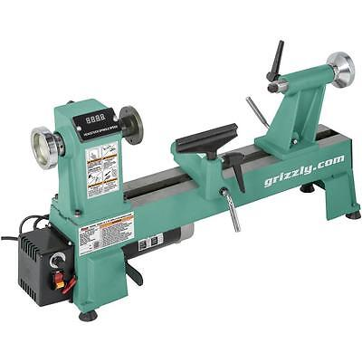 """T25920 Grizzly 12"""" x 18"""" Variable-Speed Wood Lathe"""