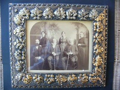 Unusual Antique Victorian 3-Couple Anniversary Wood Frame