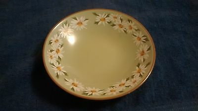 "7"" Ironstone Bowl Lazy Daisy Taylor Smith Taylor Soup Salad Vintage Green USA"